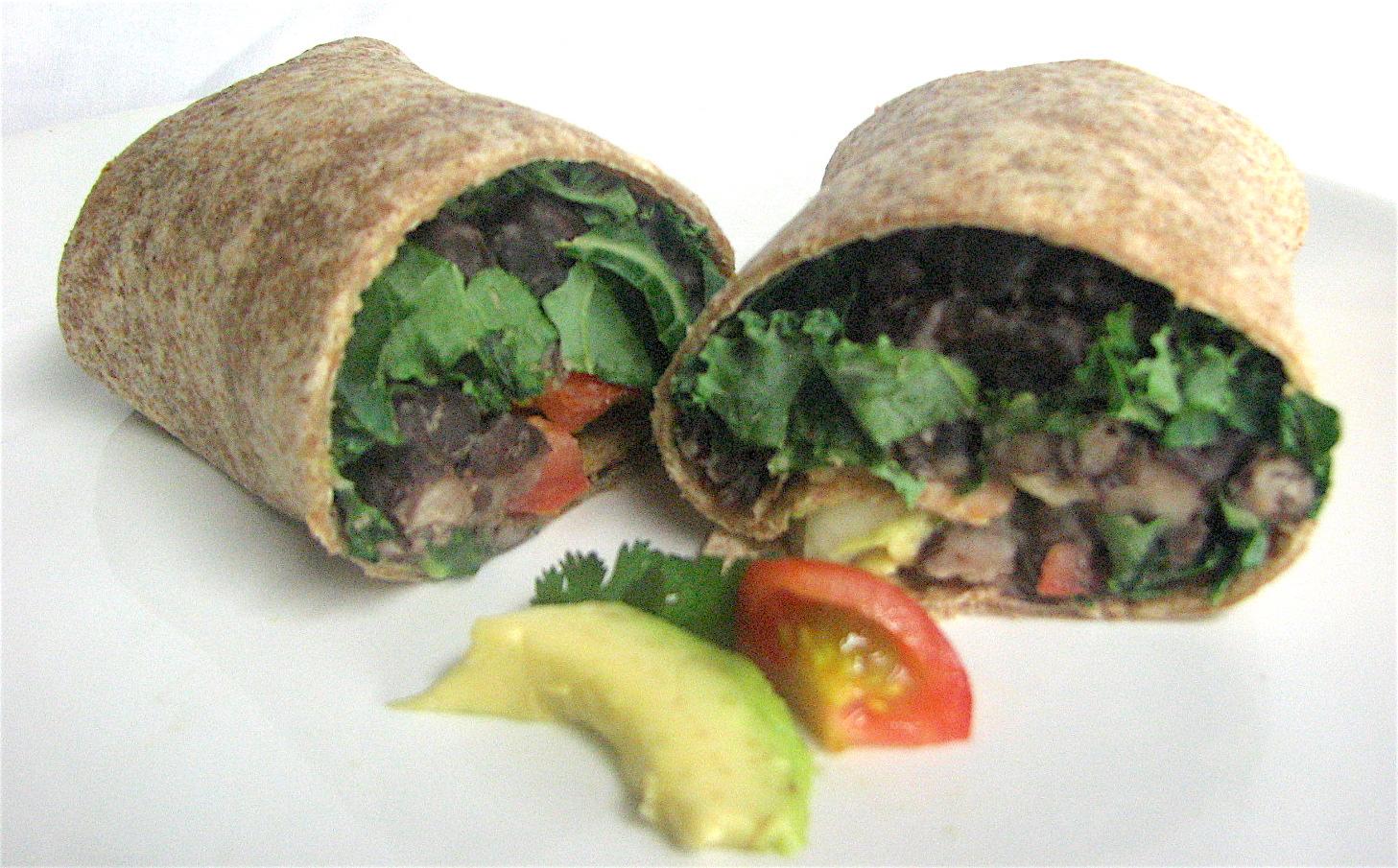 black bean burrito - med instead of meds