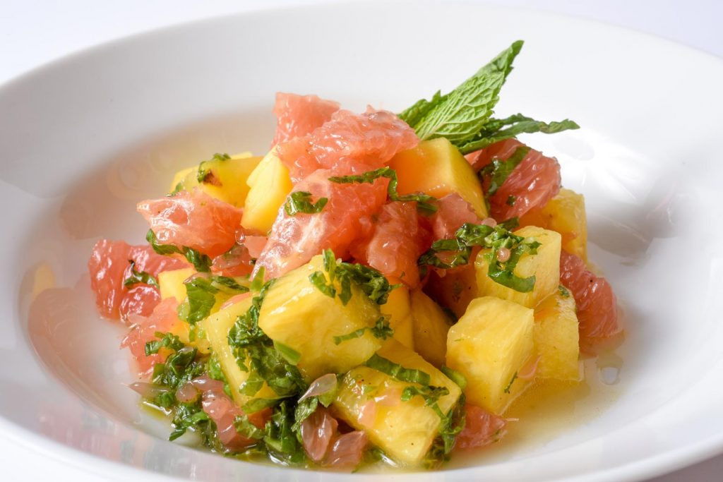 Chili Lime Salad with Grapefruit Mango and Pineapple