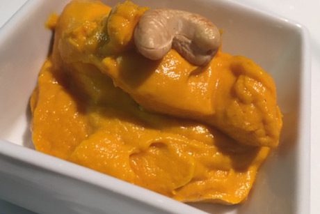 Ginger Curry Mashed Carrots