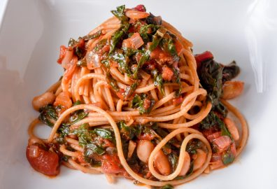 Whole Wheat Pasta with Beans and Greens Recipe