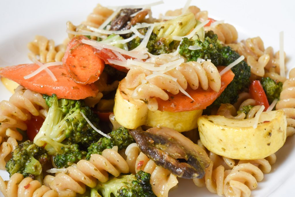 Whole Wheat Pasta with Pesto and Vegetables