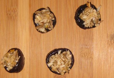 Coconut Crunch Stuffed Prunes