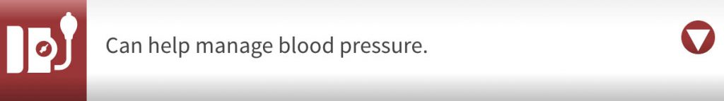 Can help manage blood pressure